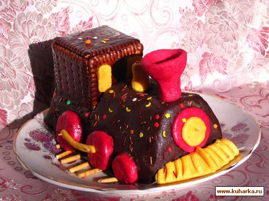 Торт паровозик своими руками без мастики