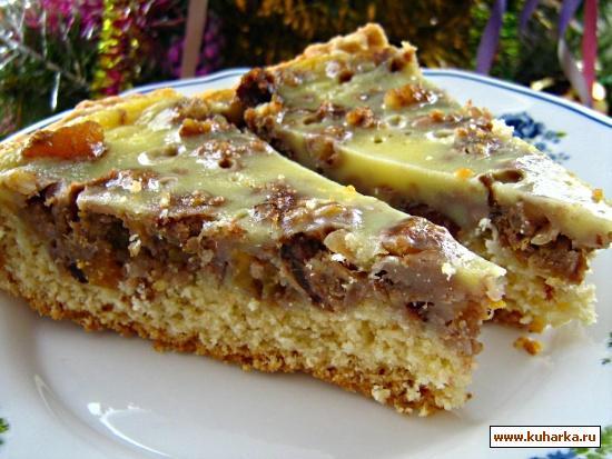 Пирог с сухофруктами из компота рецепт