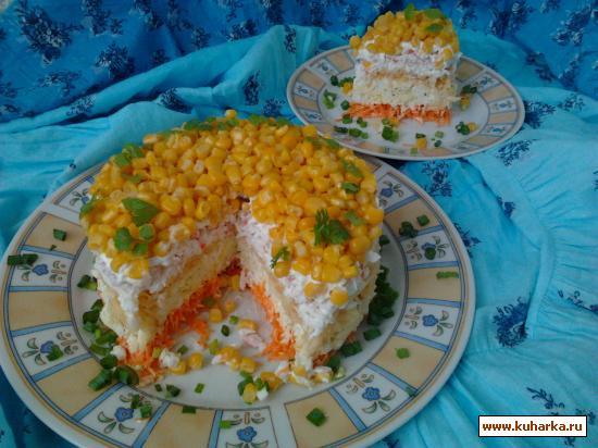 Салат кудрявый рецепт с фото