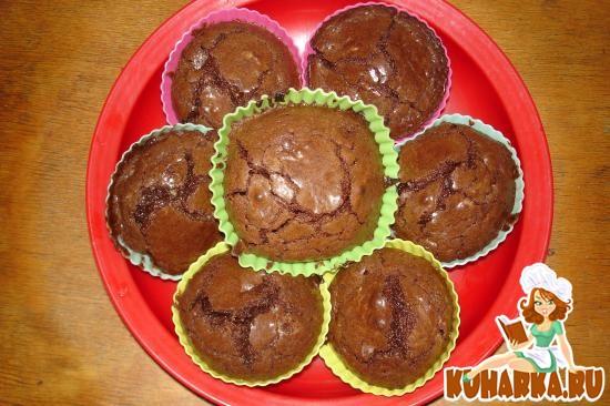 Рецепт шоколадных маффинов в силиконовых формочках с фото пошагово
