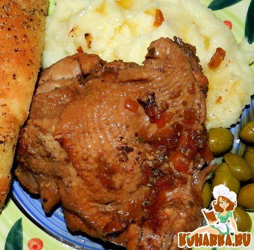 курица под маринадом в духовке рецепт с фото